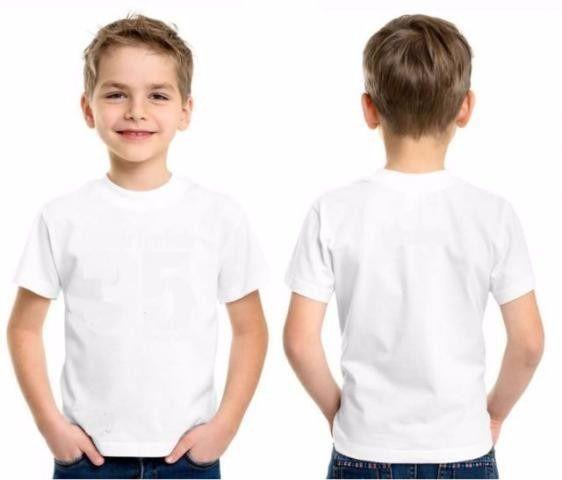 Camiseta Infantil Branca 100% Poliéster para Sublimação