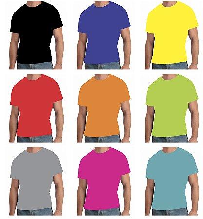 Camiseta Colorida Adulto 100% Poliéster