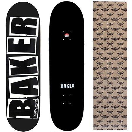 Shape Maple Importado Baker Brand 8.25 Preto Escrito Branco (Grátis lixa Jessup)