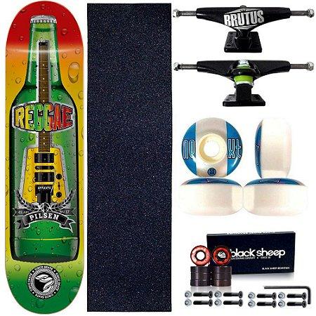 Skate Profissional Completo Paulo Piquet Shape 8.0 Cisco Skate Reggae