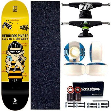 Skate Profissional Completo Cisco Skate Herois dos Pivetes 8.0