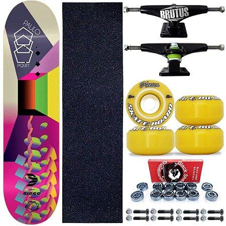 Skate Profissional Completo Paulo Piquet 8.0 Cisco Skate Color Roda Yellow