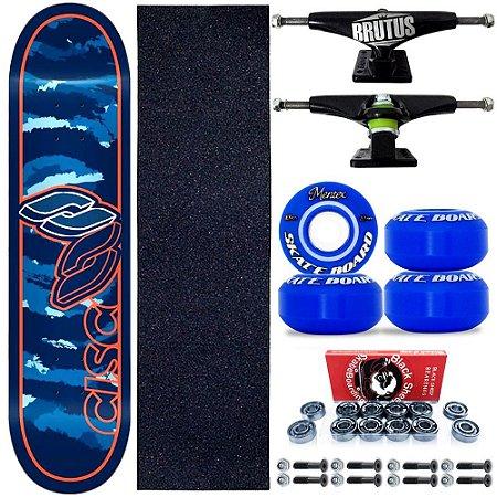Skate Profissional Completo Paulo Piquet Blue 8.0 Cisco Skate Roda Blue