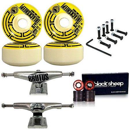 Roda Black Sheep 53mm Tub + Truck Brutus 139mm + Rolamento + Parafusos