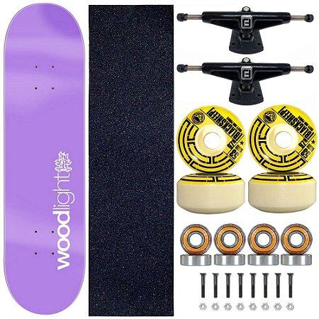 Skate Profissional Completo Shape 8.0 Purple Wood Light