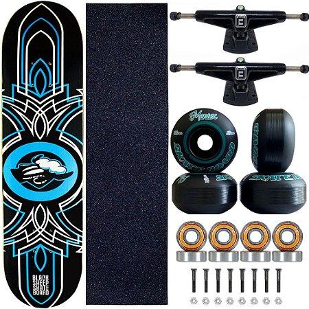 Skate Black Sheep Profissional Blue Tag Truck Fun Light