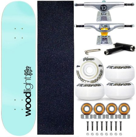 Skate Profissional Completo Shape Wood Light 8.0 Blue Truck City Line