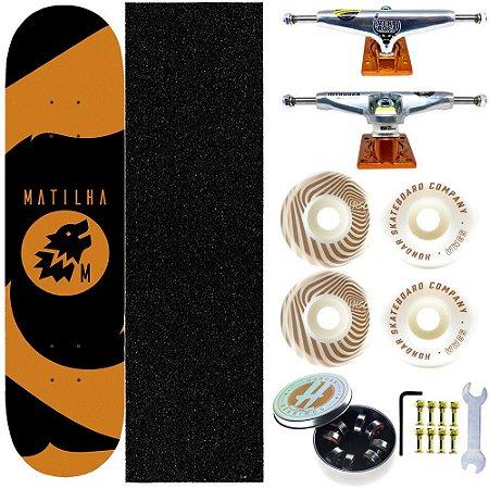 Skate Completo Shape Maple Matilha 8.0 Blacktag Truck Intruder Rodas Hondar