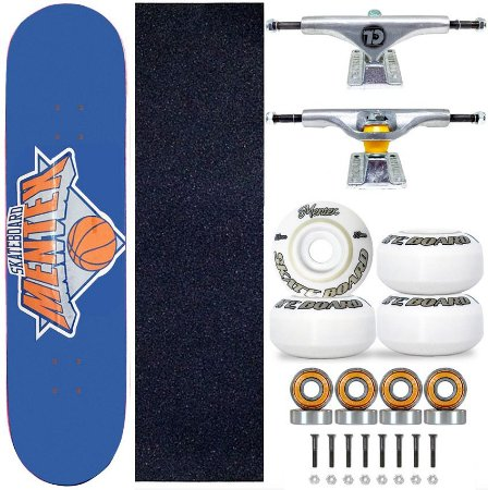 Skate Completo Profissional Shape Mentex 8.0 Basket Blue Truck City Line