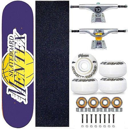 Skate Completo Profissional Shape Mentex 8.0 Lakers Truck City Line