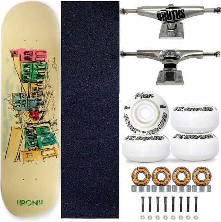 Skate Completo Profissional Shape 8.125 Kronik BHA Truck 139mm
