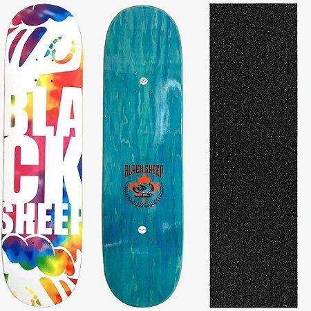 Shape Profissional Maple Skate Black Sheep Tie Dye 8.0 (Grátis Lixa Importada)