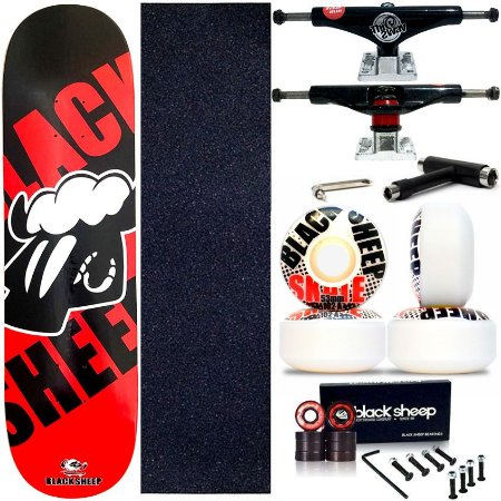 Skate Completo Maple Black Sheep Red Black 8.0 + Truck This Way + Roda 53mm