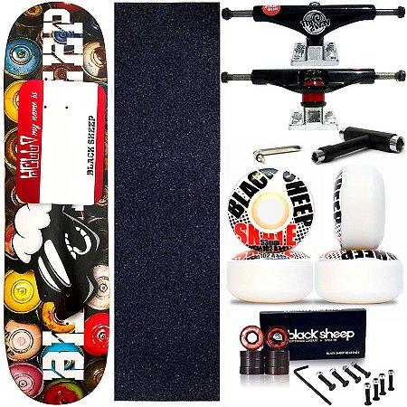 Skate Completo Maple Black Sheep ArtSpray 8.0 + Truck This Way + Roda 53mm