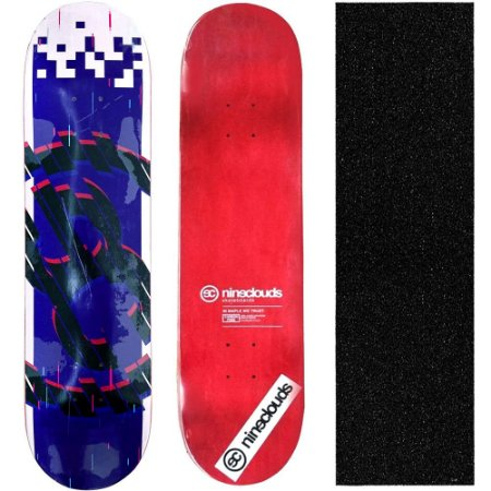 Shape Profissional Maple Skate Nineclouds 8.0 Pixel Blue (Grátis Lixa Importada)