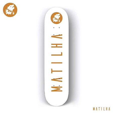 Shape Importado Maple Skate Matilha 8.0 Clean + Lixa Importada Jessup