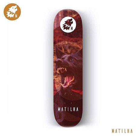 Shape Importado Maple Skate Matilha 8.0 Wolf Savage + Lixa Importada Jessup