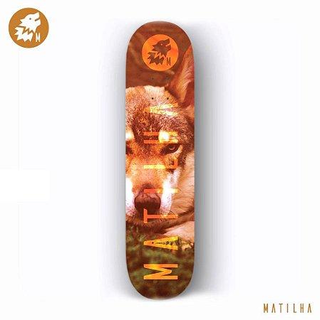 Shape Importado Maple Skate Matilha 8.0 Wolf + Lixa Importada Jessup