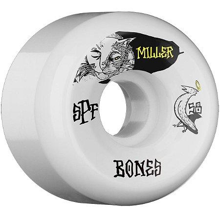 Roda Bones Original SPF Pro Miller Guilt Cat Branca 58mm P5