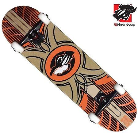 Skate Montado Black Sheep Premium Arte Laranja
