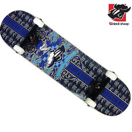 Skate Montado Black Sheep Premium Brasão Azul
