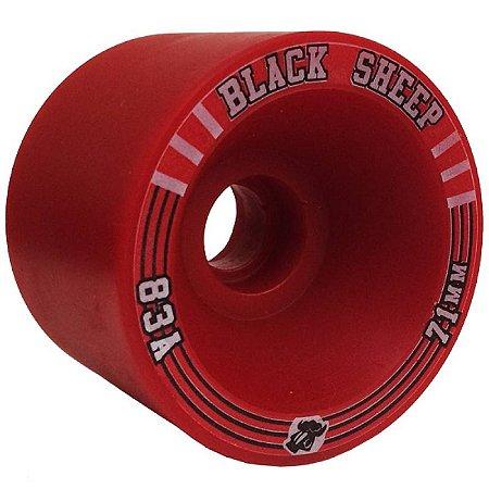 Roda Black Sheep Longboard 71mm 83A ( jogo 4 rodas )