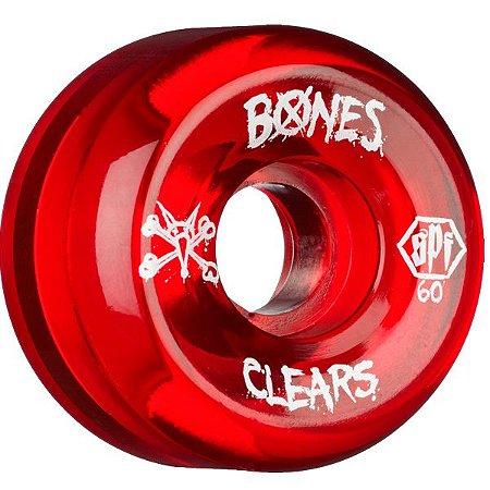 Roda Bones Original SPF Clears 60mm ( jogo 4 rodas )