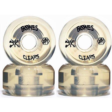 Roda Bones Original SPF Clears 56mm Natural (com 4 rodas)