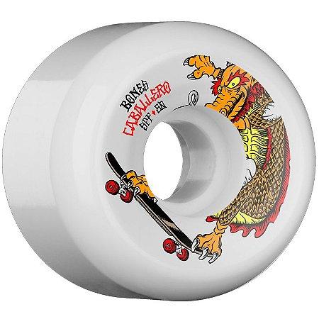 Roda Bones Original SPF Pro Caballero Dragon 60mm 84B. Branca P5 (com 4 rodas)