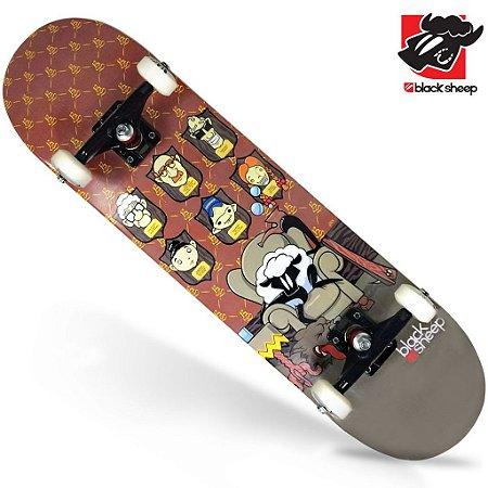Skate Montado Black Sheep Semi Profissional Quadros