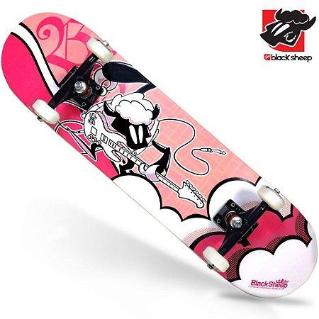 Skate Montado Black Sheep Semi Profissional Feminino Guitar