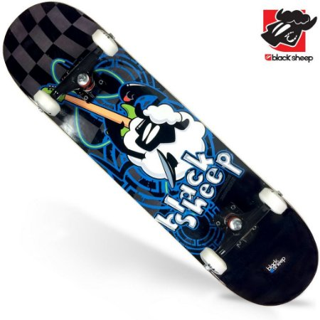 Skate Montado Black Sheep Iniciante Black Blue