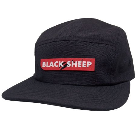 Bone Black Sheep Five Panel Escrito Preto