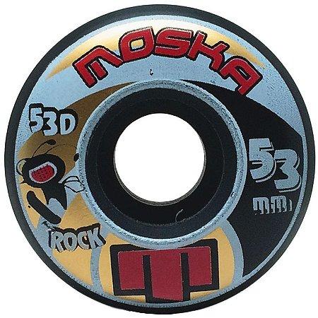 Roda Moska Rock 53mm 53d Preta ( jogo 4 rodas )