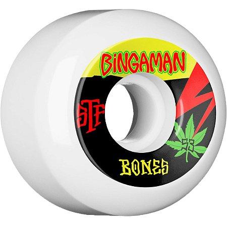 Roda Bones Original STF Bingaman Attitude V5 53mm 83B. ( jogo 4 rodas )