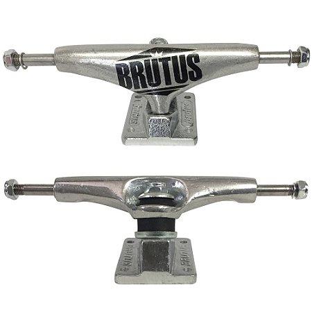 Truck Brutus Semi Profissional 139mm Silver (Par + Grátis 8 parafusos)
