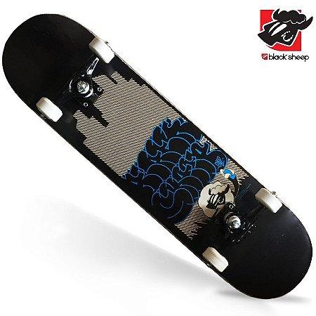 Skate Montado Black Sheep Profissional Ovelha Grafite