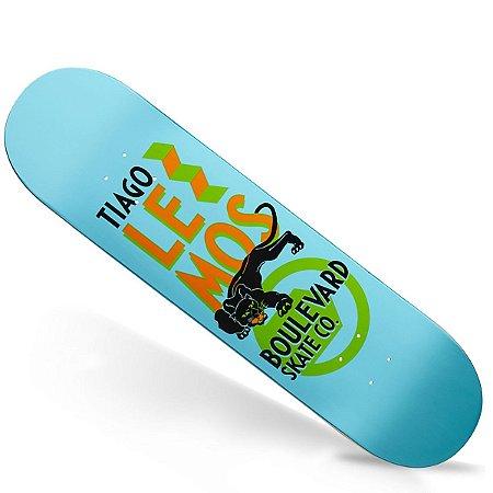 Shape Importado Boulevard Skate Tiago Lemos Blue 7.9 (Grátis Lixa Importada Jessup)