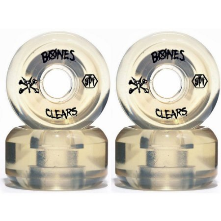 Roda Bones Original SPF Clears 60mm Natural (com 4 rodas)