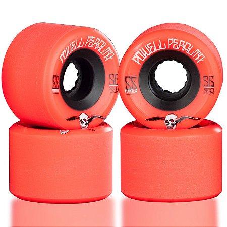 Roda Powell Peralta Skateboard G-Slide 56mm 85A Vermelha ( jogo 4 rodas )