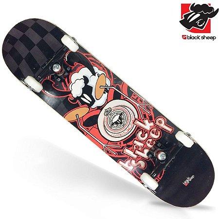 Skate Montado Black Sheep Semi Profissional Black Red