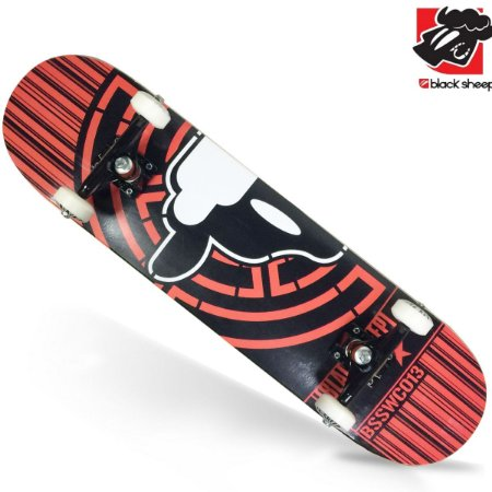 Skate Montado Black Sheep Semi Profissional Alvo