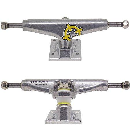 Truck Intruder Pro Series Hollow 159mm Mid Silver (Par + Grátis 8 parafusos)