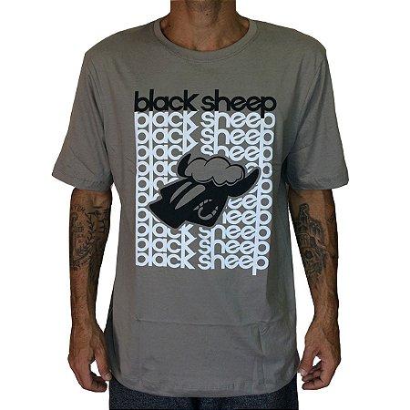 Camiseta Black Sheep Escritos Cinza