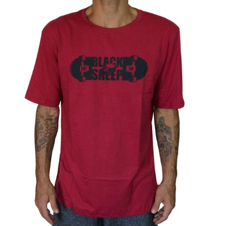 Camiseta Black Sheep Molde Vermelha