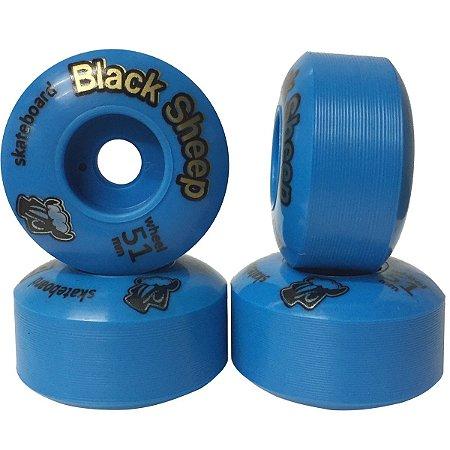 Roda Black Sheep BS Color 51mm Azul ( jogo 4 rodas )