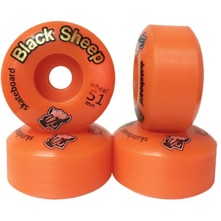 Roda Black Sheep BS Color 51mm Laranja ( jogo 4 rodas )