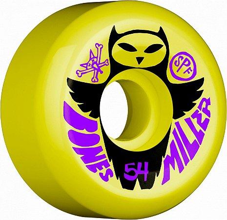 Roda Bones Original SPF Pro Miller Owl 54mm 84B Amarela ( jogo 4 rodas )