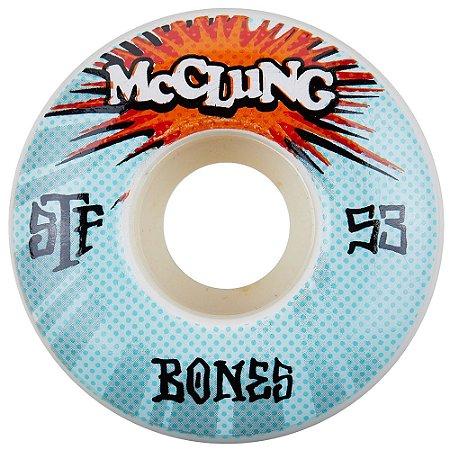 Roda Bones Original STF  Trend Mc Clung Blaster 53mm 83B. V1 ( jogo 4 rodas )