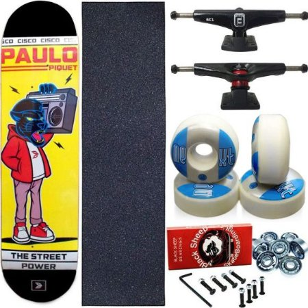 Skate Completo Profissional Maple Paulo Piquet 8.0 Cisco